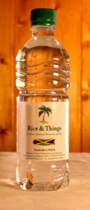 Neufville's Wata: Spring Water produced by Rice and Things Jamaican Restaurant